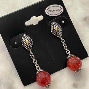 Andrea Candela sterling silver drop earrings